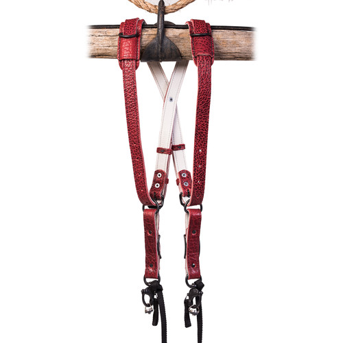 HoldFast Gear Money Maker American Bison Skinny 2 Camera Harness (Red, Medium)