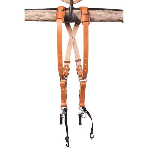 HoldFast Gear Money Maker Bridle Skinny 2 Camera Harness (Tan, Small)