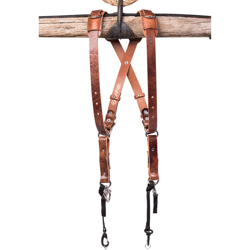 HoldFast Gear Money Maker Water Buffalo Skinny 2 Camera Harness (Tan, Medium)