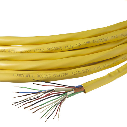Honeywell 22/6 + 18/4 + 22/4 + 22/2 Stranded Shielded Jacketed Access Control Plenum Cable (Reel, 500', Yellow
