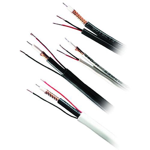Honeywell Genesis Series RG59/U + 18/2 Siamese Shielded CCTV Coaxial & Power Cable (White, 500' Reel in-a-Box)