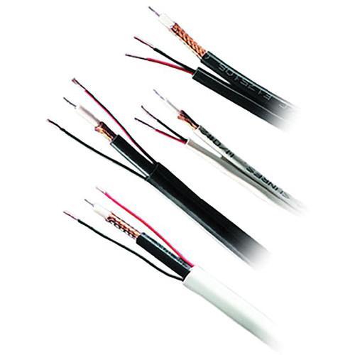 Honeywell Genesis Series RG59/U + 18/2 Siamese Shielded CCTV Coaxial & Power Cable (Black, 500' Reel in-a-Box)