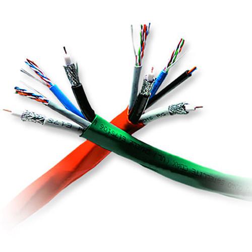 Honeywell 2x Cat 5e + 2x RG6 CCS Quad-Shield Coax Cable (Reel, 500', Orange)