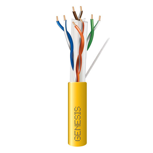 Honeywell 4-Pair 23 AWG CAT6 Plus Riser Cable (1000' Pull Box, Yellow)