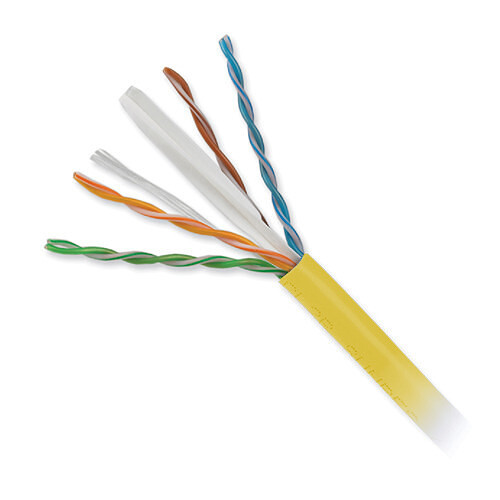 Honeywell 4-Pair 23 AWG CAT6 Plus Riser Cable (1000' Speed Box, Yellow)