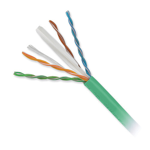Honeywell 4-Pair 23 AWG CAT6 Plus Riser Cable (1000' Reel in-a-Box, Green)