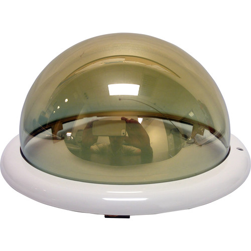 Honeywell Smoked Dome with White Trim Ring for Indoor In-Ceiling Back Can