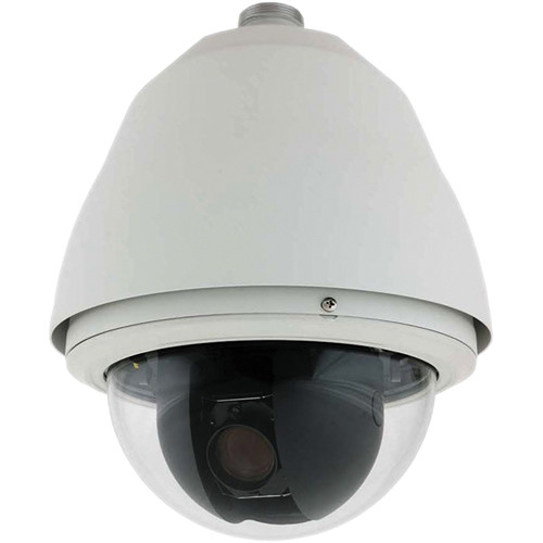 Honeywell HDX Series ACUIX HDXGNWDCW True Day/Night 35x Outdoor Pendant PTZ IP Dome Camera (Warm Gray Housing, Clear Bubble, White Trim Ring, NTSC)
