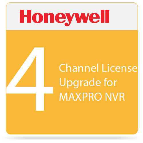 Honeywell 4-Channel License Upgrade for MAXPRO NVR