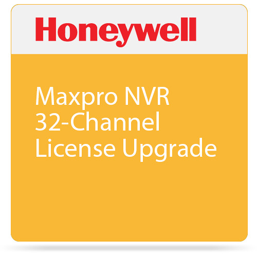 Honeywell MPNVRSW32UP 32-Channel License Upgrade for MAXPRO NVR