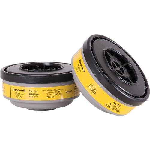 Honeywell Safety Products N75003L N Series Organic Vapor & Acid Gas Cartridge (2-Pack)