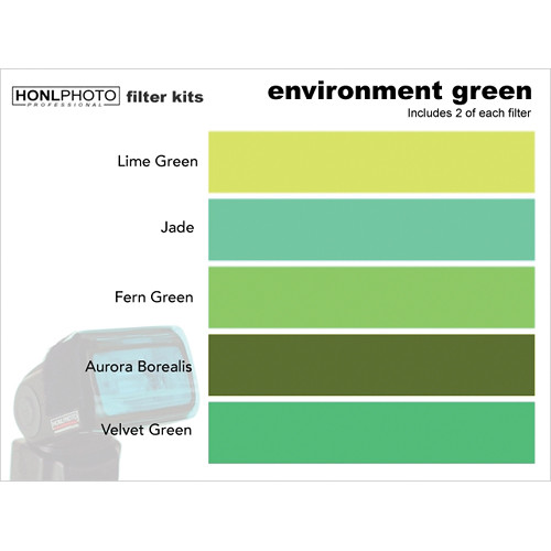 Honl Photo Environment Green Photo Filter Kit