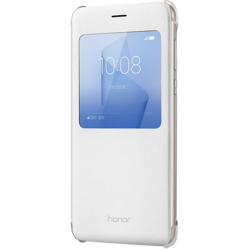 Huawei Honor 8 Flip Cover Case (White)