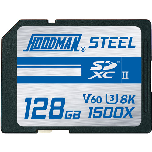 Hoodman 128GB Steel UHS-II SDXC Memory Card