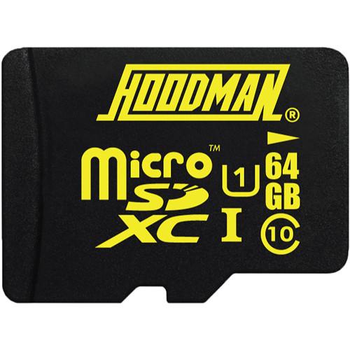 Hoodman 64GB UHS-I microSDXC Memory Card with SD Adapter