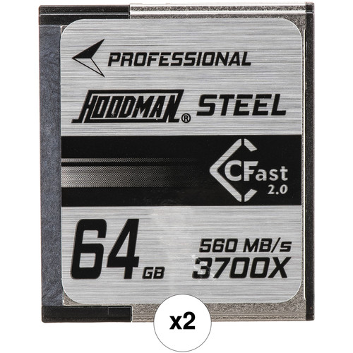 2-Pack Hoodman HCFAST64 64GB CFast 2.0 Card
