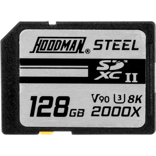 Hoodman 128GB Steel 2000x SDXC UHS-II Memory Card