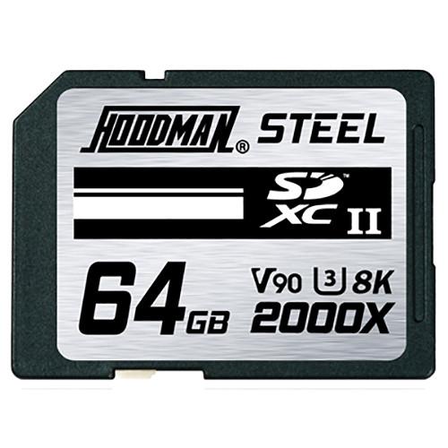 Hoodman 64GB Steel 2000x SDXC UHS-II Memory Card