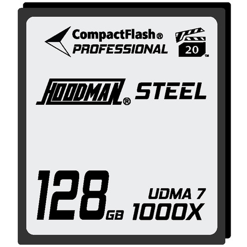 Hoodman 128GB UDMA7 CompactFlash Steel Card