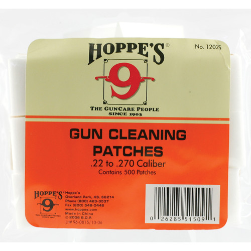 Hoppes Gun Cleaning Patches (500-Pack)