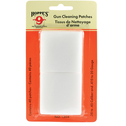 Hoppes Gun Cleaning Patches (40-Pack)