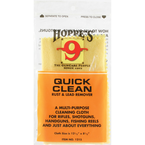 "Hoppes Quick Clean Rust and Lead Remover Cloth (12.5 x 8.5"")"