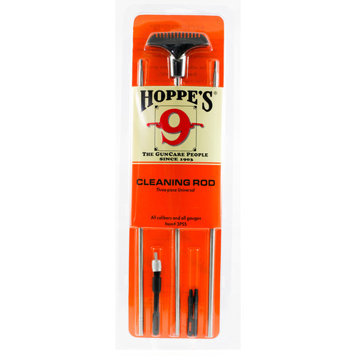 Hoppes Bench Rest Three-Piece Stainless Steel Cleaning Rod (Rifles/Shotguns)