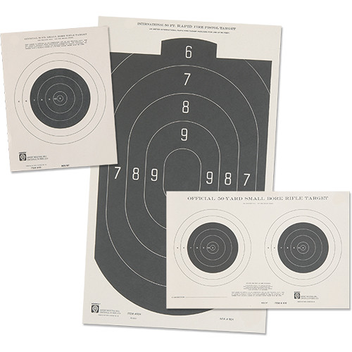 "Hoppes 7x9"" Single Bull Paper Competition Rifle Targets (50' Range, 20/pack)"