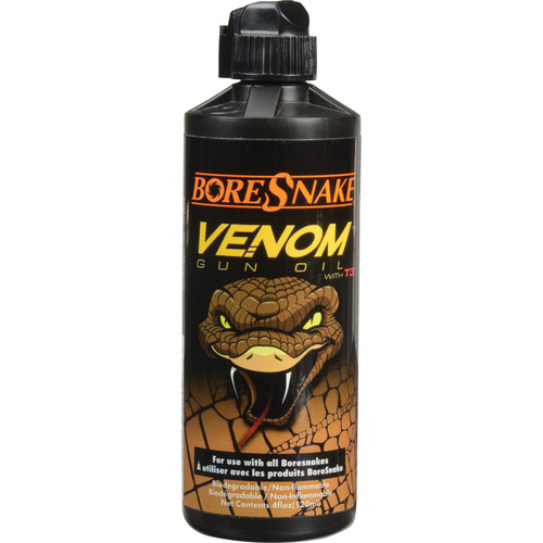 Hoppes BoreSnake Venom Gun Oil with T3 (4oz Bottle)