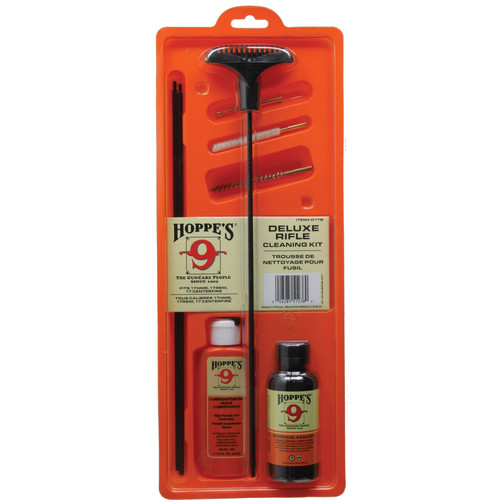 Hoppes Cleaning Kit with Steel Rod (.17, .204 Cal, Clamshell Packaging)
