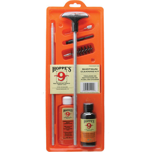 Hoppes 12-Gauge Shotgun Cleaning Kit with Aluminum Rod (Clamshell Packaging)