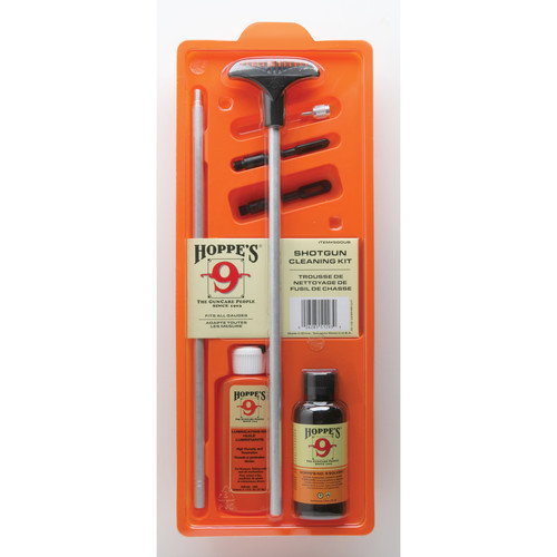 Hoppes Shotgun Cleaning Kit with Aluminum Rod (Clamshell Packaging)