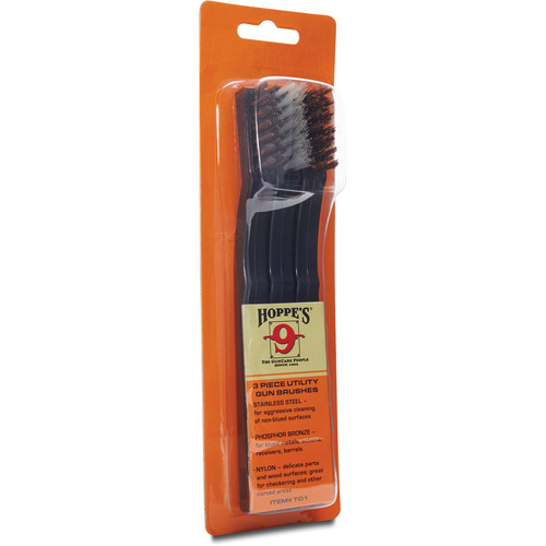 Hoppes Utility Gun Cleaning Brushes Set (3-Pack)
