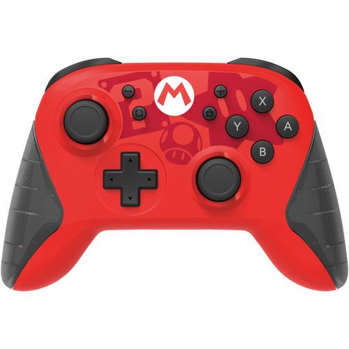 Hori Wireless HORIPAD Mario Edition Rechargeable Controller for Nintendo Switch