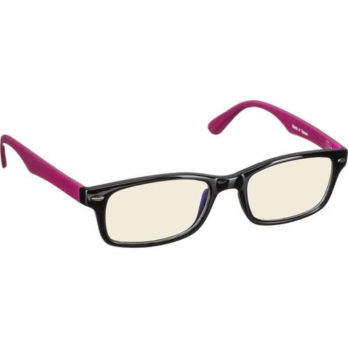 HornetTek HT-GL-B076-B/R Gaming Glasses (Black & Pink)