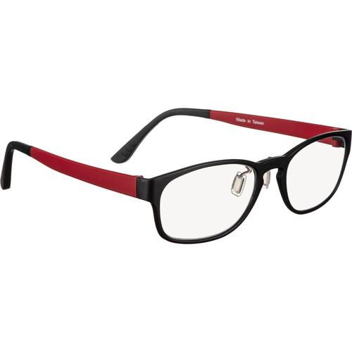 HornetTek HT-GL-B122-R Blue-Light Blocking Glasses (Black and Red)