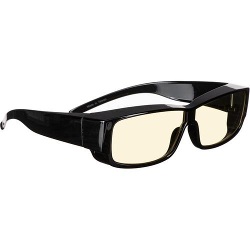 HornetTek HT-GL-B301-Y Blue-Light Blocking Glasses (Black with Yellow Lenses)