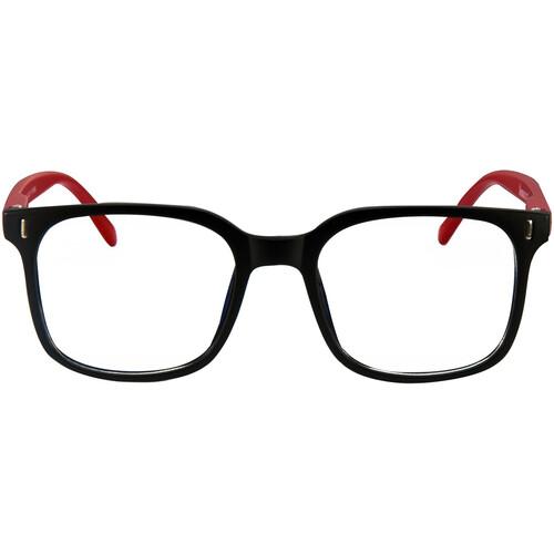 HornetTek HT-GL-B7112 Gaming Glasses with Blue Light Protection (Black & Red)