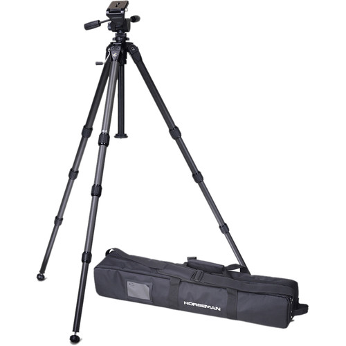 Horseman 511857 Carbon Fiber Tripod with Pan Head and Soft Case