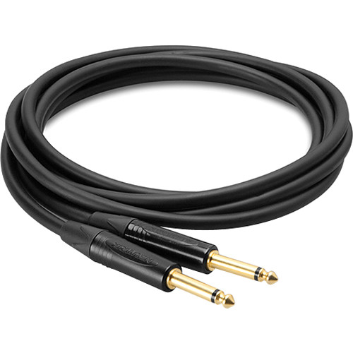 "Hosa Technology Straight 1/4"" Plug Male to Straight 1/4"" Plug Male Edge Guitar Cable (15')"