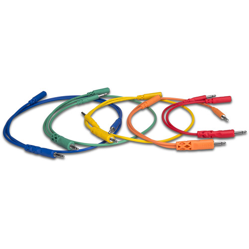 Hosa Technology 3.5mm TS Male to 3.5mm TS Male/3.5mm TS Female Hopscotch Patch Cable (5-Pack)