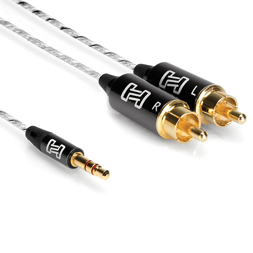 Hosa Technology 3.5mm TRS to Dual-RCA Drive Stereo Breakout Cable (10')