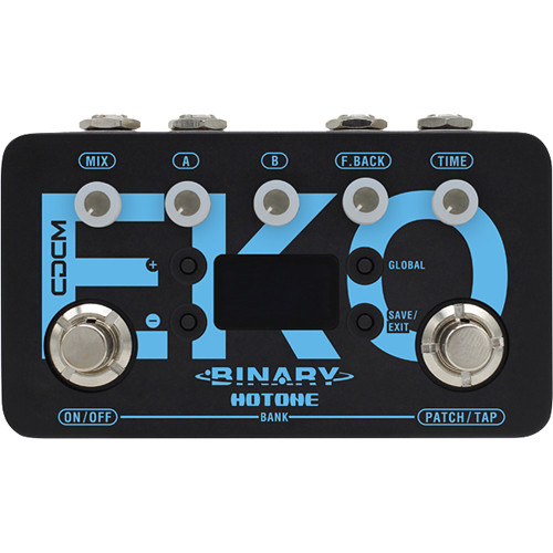 Hotone Binary EKO Stereo Delay Pedal for Electric Guitars