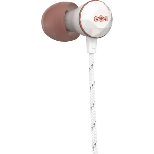 House of Marley Nesta In-Ear Headphones with In-Line Mic and 3-Button Remote (Rose Gold)