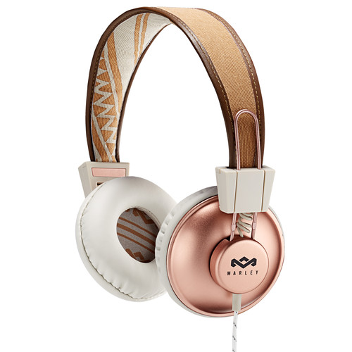 House of Marley Positive Vibration On-Ear Headphones with Universal Remote & Microphone (Copper)