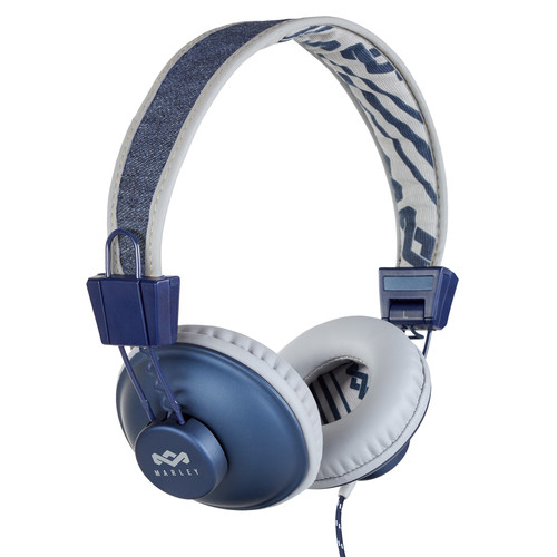 House of Marley Positive Vibration On-Ear Headphones with Universal Remote & Microphone (Denim)