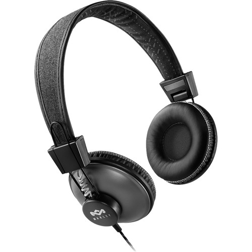 House of Marley Positive Vibration On-Ear Headphones (Universal 1-Button Remote and Mic, Pulse)