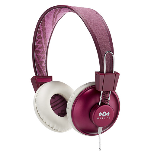 House of Marley Positive Vibration On-Ear Headphones with Universal Remote & Microphone (Purple)