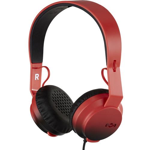 House of Marley EM-JH081 Rebel On-Ear Headphones (Red)