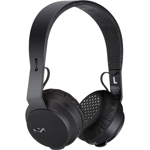 House of Marley The Rebel BT On-Ear Wireless Bluetooth Headphones (Black)